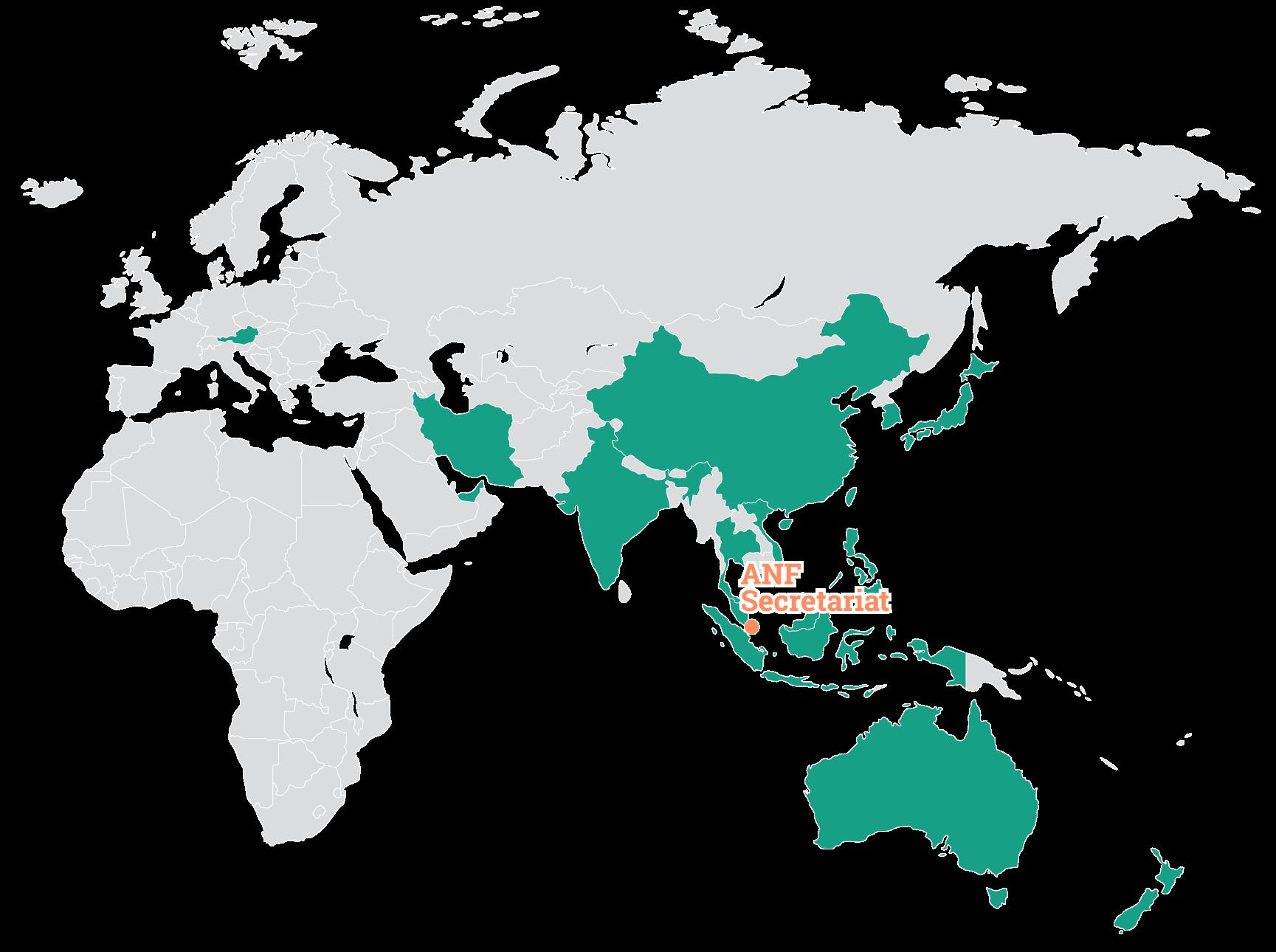ANF member network world map